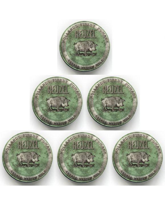 Grease Medium Hold Green 113 gr. 6 stuks