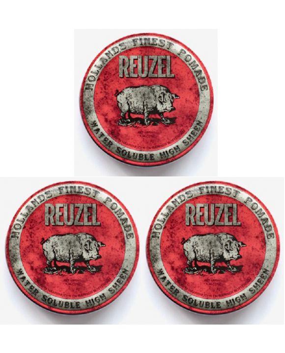 High Sheen Pomade Rood 113 gr. 3 stuks