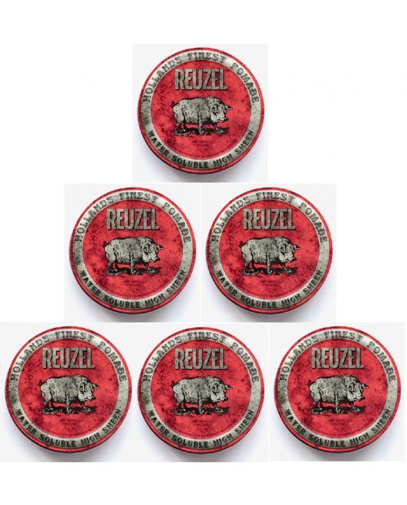 High Sheen Pomade Rood 113 gr. 6 stuks