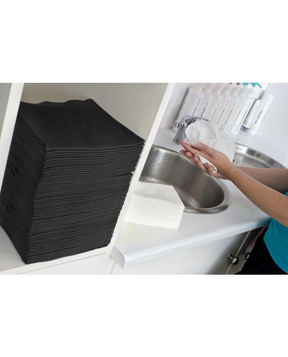 Scrummi Waffle Black Hand Towels 500 stuks