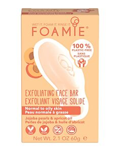 Foamie Cleansing Face Bar  More Than A Peeling (Normal to dry skin  with jojoba pearls)