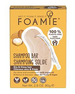 Foamie Shampoo Bar Kiss Me Argan (anti-frizz shampoo)