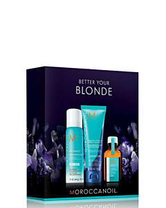 Moroccanoil Better Your Blonde Set incl. Gratis Purple Shampoo 70ml