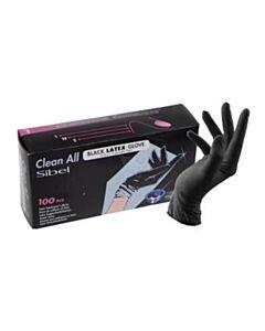Sibel Latex Handschoenen L Black