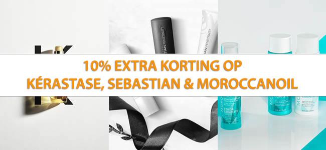 10% Korting op Kerastase, Sebastian en Moroccanoil